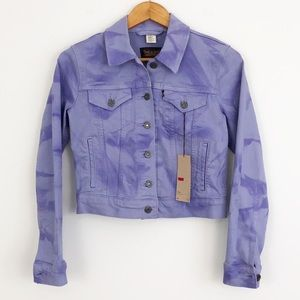 Levi's Trucker Purple Tie Dye Jeans Jacket
